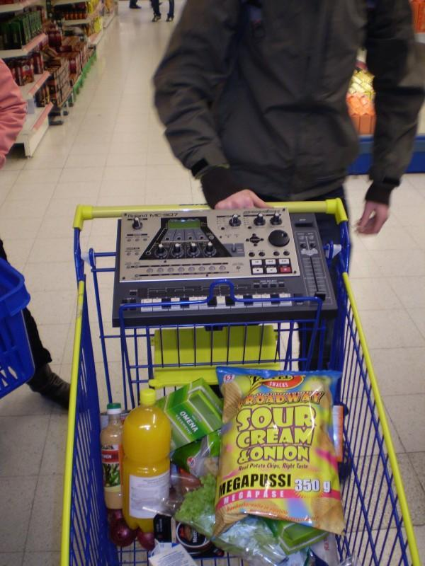 Shopping in Finland for crisps and drum machines